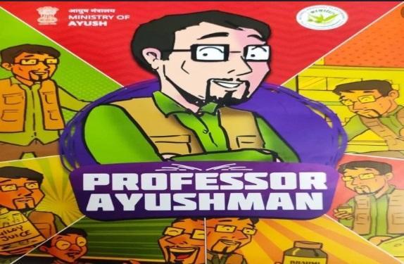 'Professor Ayushman' comic book released by Ayush Ministry in New Delhi_40.1