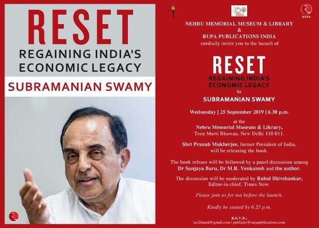 Pranab Mukherjee launches the book titled 'Reset: Regaining India's Economic Legacy'_40.1