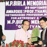 Thanu Padmanabhan gets MP Birla Memorial Award