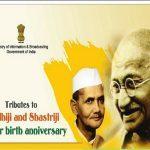 Nation pays homage to Mahatma Gandhi on his 150th and Lal Bahadur Shashtri on his 115th birth anniversary