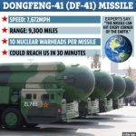 China unveiled DF-41 the most powerful intercontinental-range ballistic missile on the planet