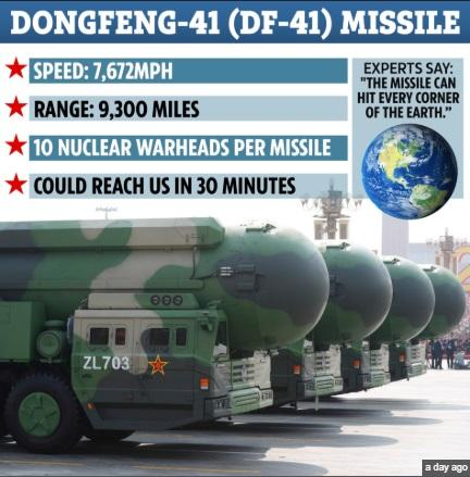 China unveiled DF-41 the most powerful intercontinental-range ballistic missile on the planet_40.1