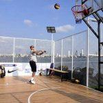 India's first floating basketball court opens in Arabian Sea, Mumbai