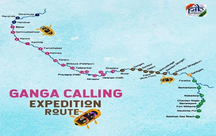 """GoI launches """"Ganga Aamantran: Open Water Rafting Expedition""""_40.1"""