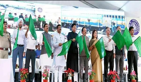 Railways Minister Piyush Goyal flagged off 9 'Sewa Service' trains_40.1