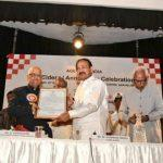 Vice President M Venkaiah Naidu presents Most Eminent Senior Citizen Award to K Parasaran