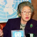 First female UN refugee chief Sadako Ogata passes away