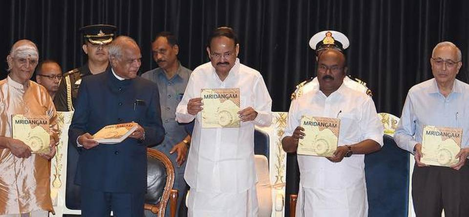 Vice President releases monograph of 'Musical Excellence of Mridangam' in Chennai_40.1