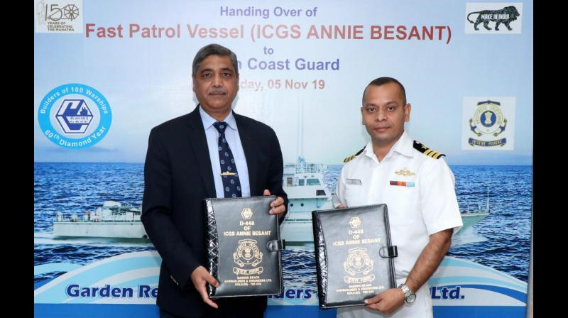 GRSE delivers fast patrol vessel, 'Annie Besant' to Indian Coast Guard_40.1