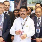 Dharmendra Pradhan inaugurates the India Pavilion at the ADIPEC