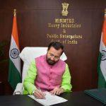Prakash Javadekar takes charge as Minister of Heavy Industries and Public Enterprises