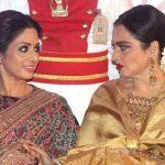 Veteran actors Sridevi and Rekha conferred with ANR National Award