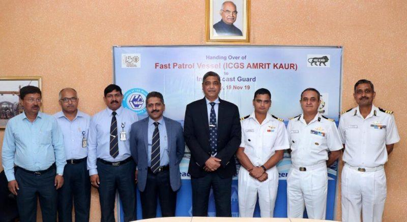 GRSE delivers ICGS 'Amrit Kaur to Indian Coast Guard_40.1