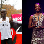 Marathon man Kipchoge, hurdle heroine Muhammad win Athlete of the Year