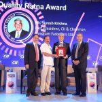 Sundram Fasteners' Suresh Krishna gets 'Quality Ratna' award