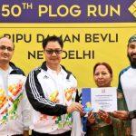 "Ripu Daman Bevli as ""Plogging Ambassador of India"" on 50th Fit India Plogging Run"