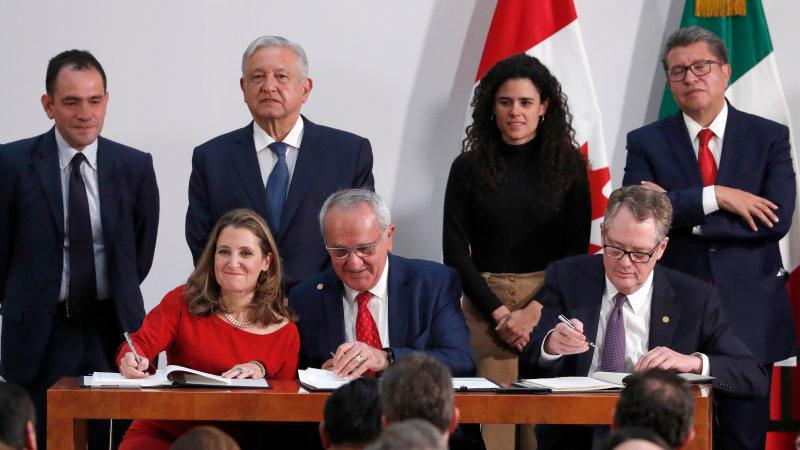 US, Mexico, Canada sign USMCA trade deal_40.1