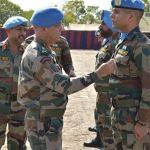 UN Medal awarded to Indian peacekeepers to support the people of South Sudan