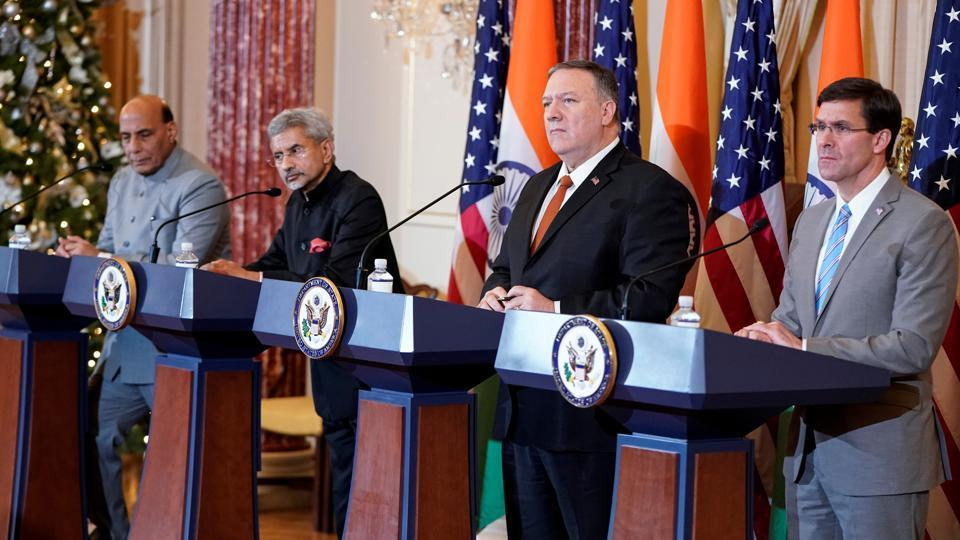 India and US sign defence tech transfer pact during 2+2 dialogue_40.1