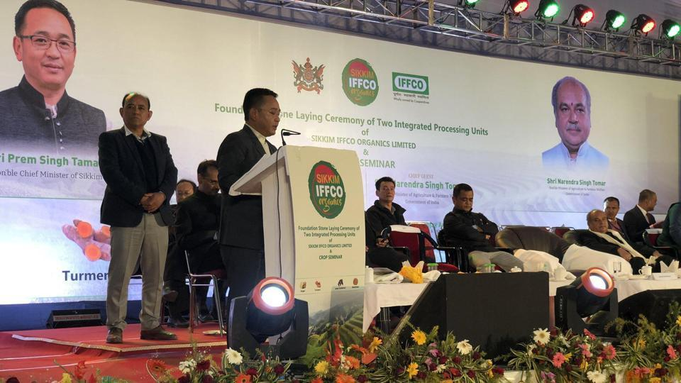 Sikkim CM laid the foundation stone two IPUs of Sikkim IFFCO_40.1