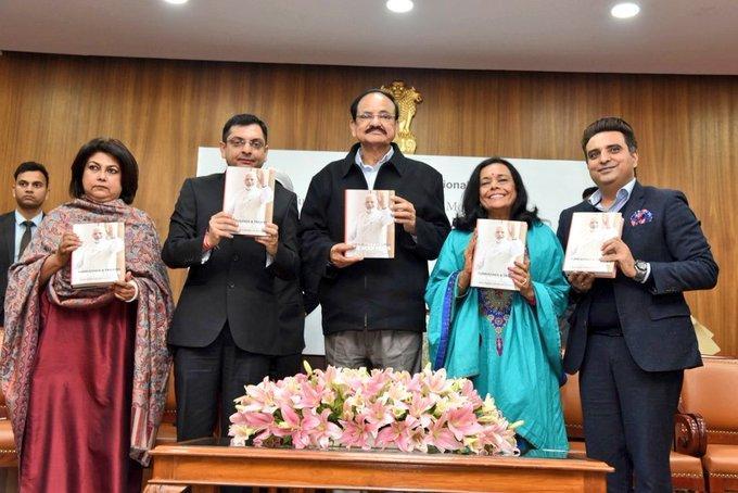 Vice Prez released book 'Turbulence and Triumph: The Modi Years'_40.1