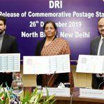 Finance minister releases stamp to commemorate DRI's role