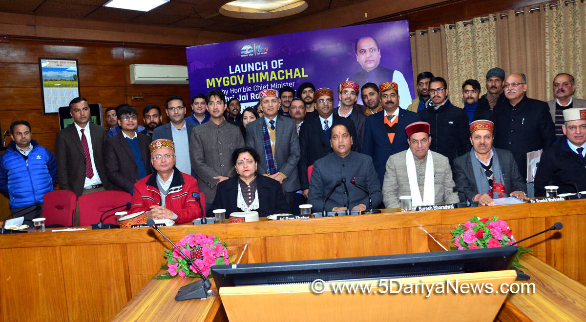 "Himachal Pradesh Gov. launches ""Himachal MyGov"" portal & ""CM App""_40.1"