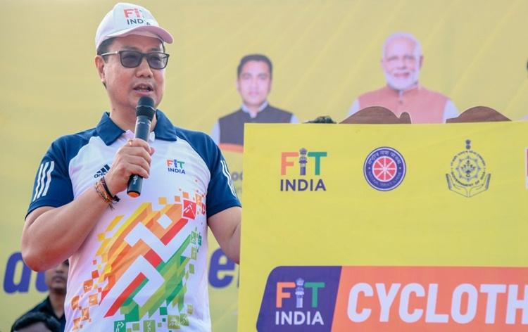 Union Sports Minister flag off 'Fit India Cyclothon' in Panaji_40.1