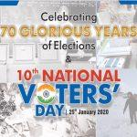 India celebrates National Voters' Day on 25th January