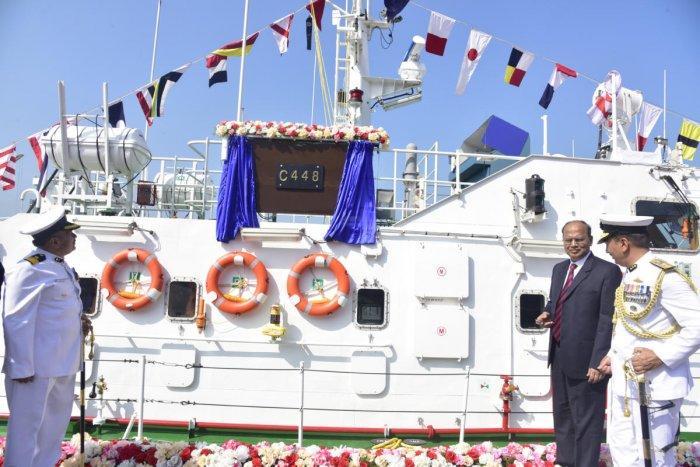 ICG commissions interceptor boat C-448 in Mangaluru_40.1