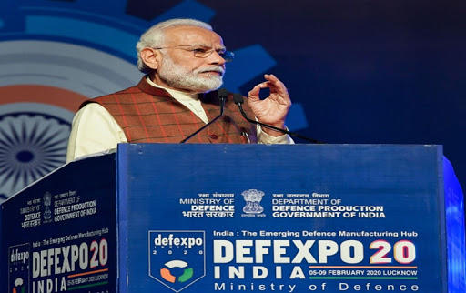 Prime Minister of India sets target at DefExpo of 5 billion dollar USD in upcoming 5 years_40.1