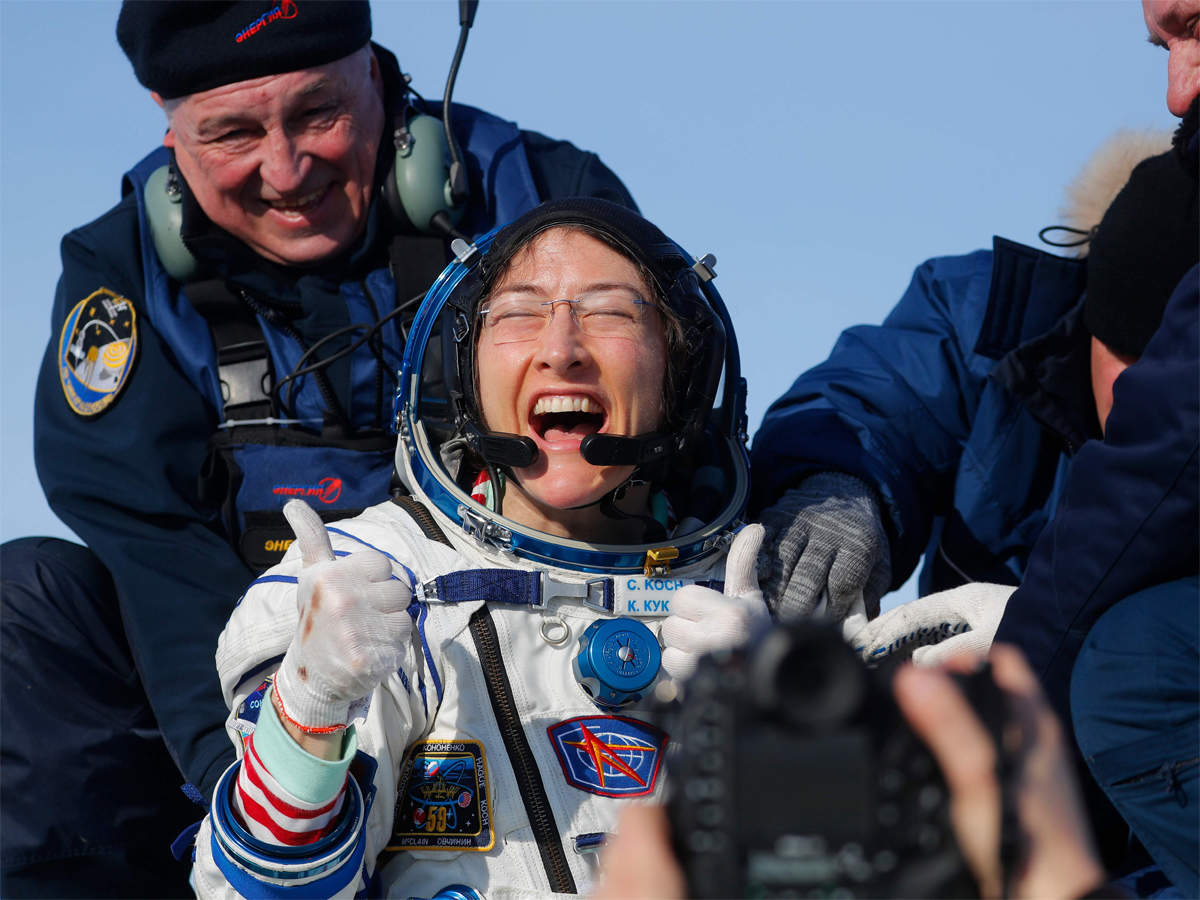 Astronaut Christina Koch returns to Earth after record stay in space_40.1