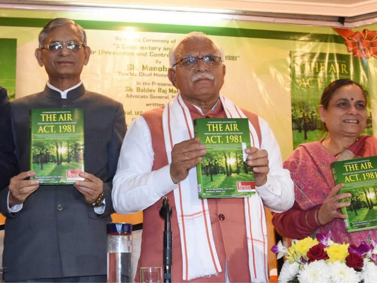 """Haryana CM releases the book """"A Commentary and Digest on The Air, Act 1981""""_40.1"""