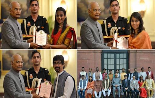 61st annual Lalit Kala Akademi awards conferred by President Kovind_40.1