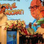 "Naveen Patnaik released book "" The Adventures of the Daredevil Democrat"""