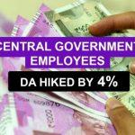 Cabinet hiked dearness allowance by 4% for central government employees