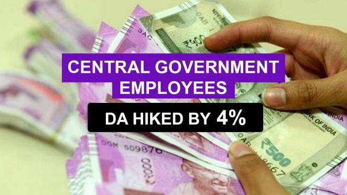 Cabinet hiked dearness allowance by 4% for central government employees_40.1