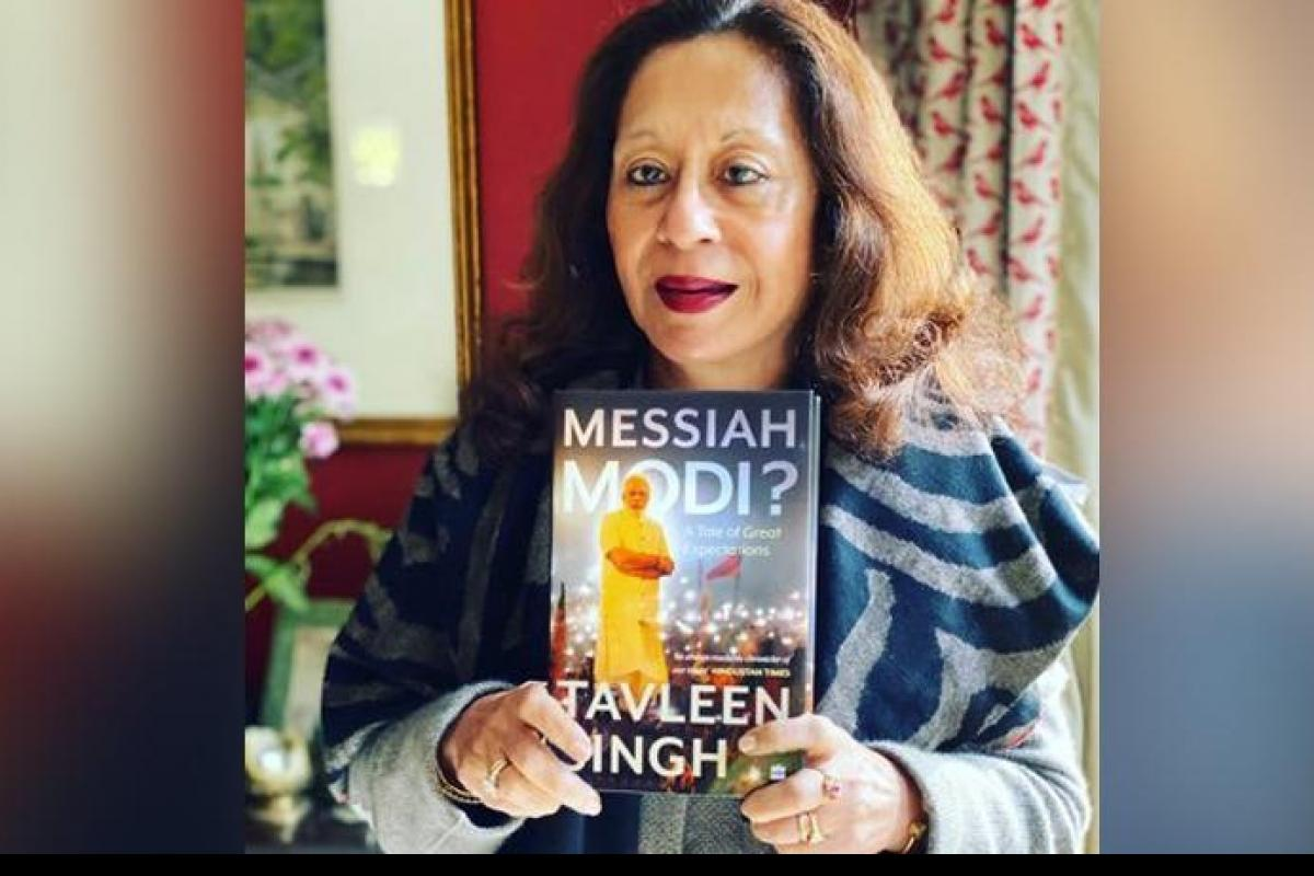 A book entitled 'Messiah Modi: A Great tale of expectations' penned by Tavleen singh_40.1