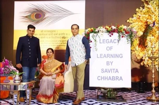 A book title 'Legacy Of Learning' authored by Savita Chhabra released_40.1
