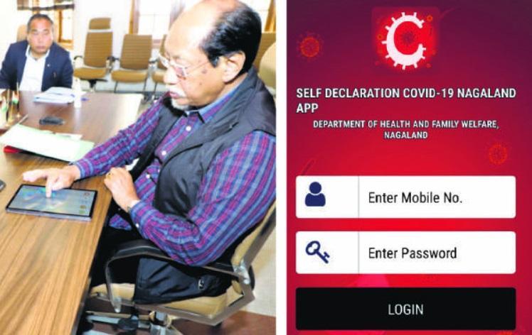 Neiphiu Rio launches Self Declaration COVID-19 Nagaland App_40.1