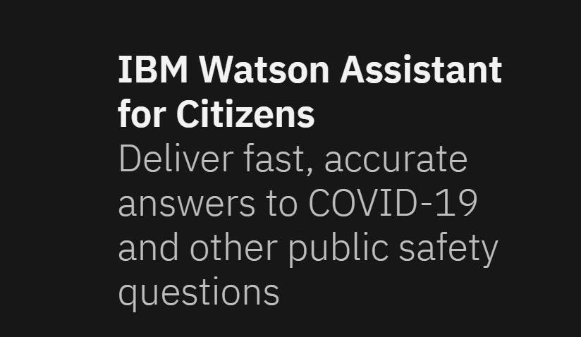 'Watson Assistant for Citizens' to address COVID-19 queries_40.1