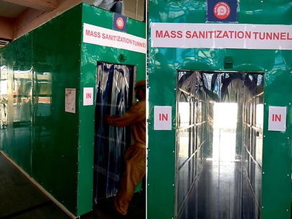 Ahmedabad station becomes 1st station to get sanitizing tunnel_40.1