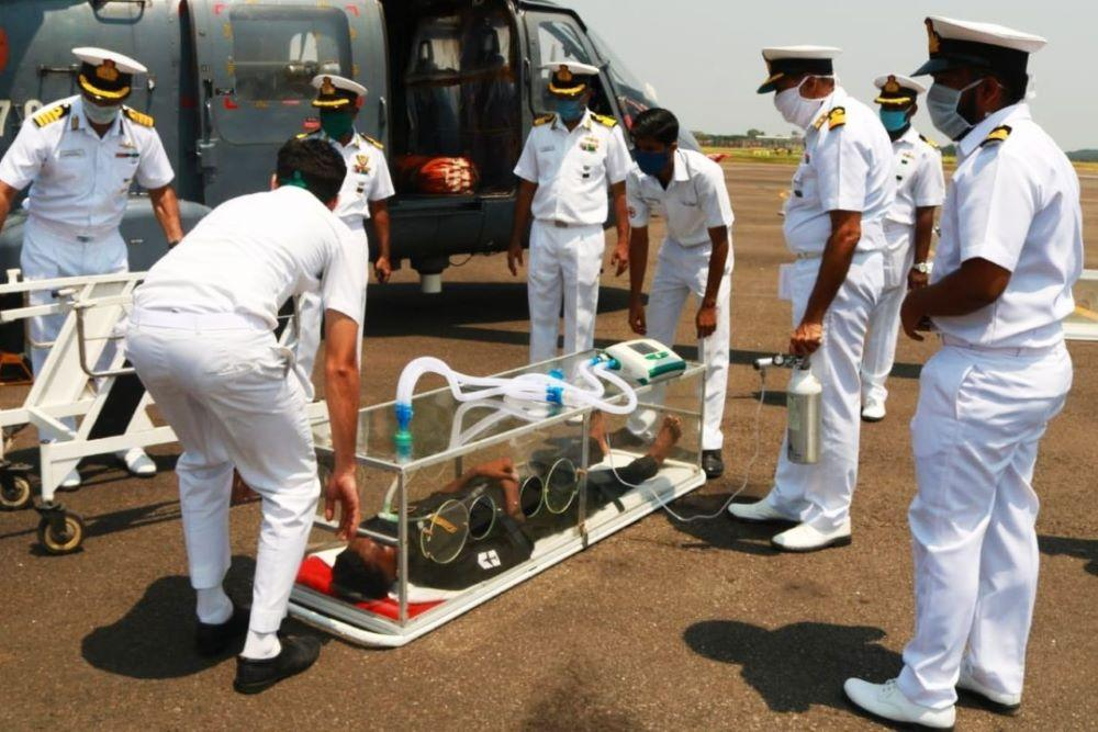 """Indian Navy formed """"Air Evacuation Pod"""" for Covid-19 patients_40.1"""