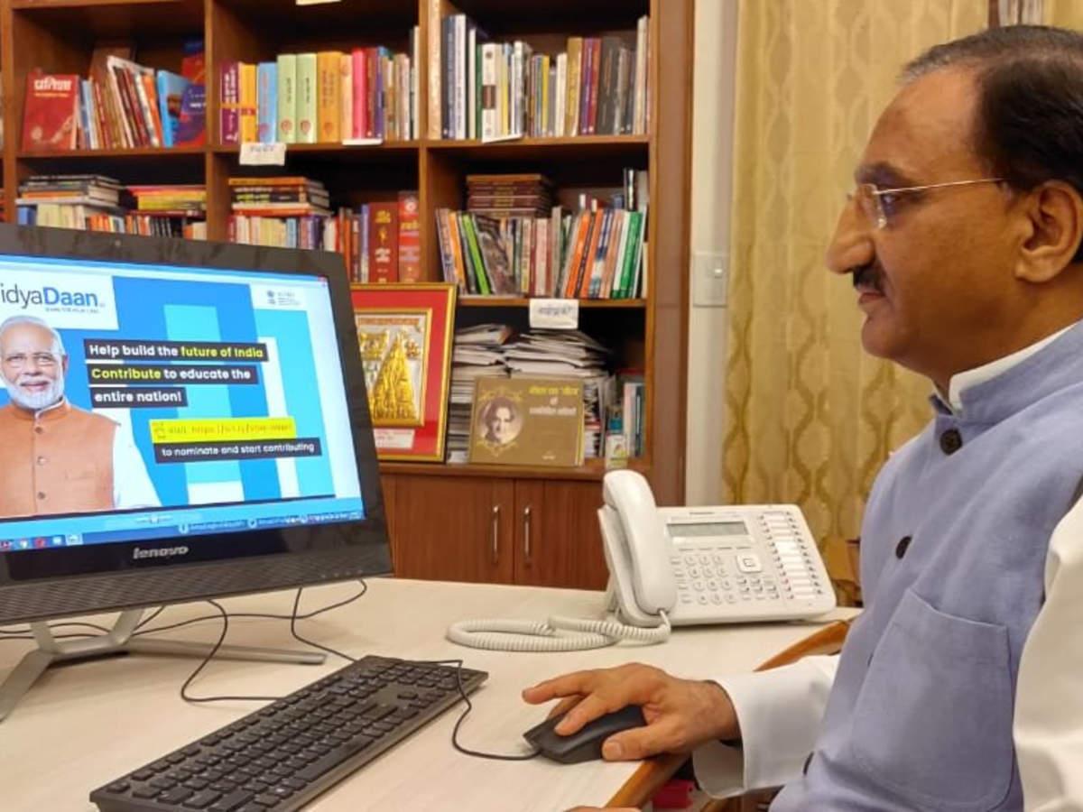 """MHRD e-launches national program """"VidyaDaan 2.0""""_40.1"""