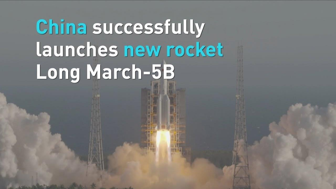 """China launches new rocket """"Long March 5B"""" successfully_40.1"""