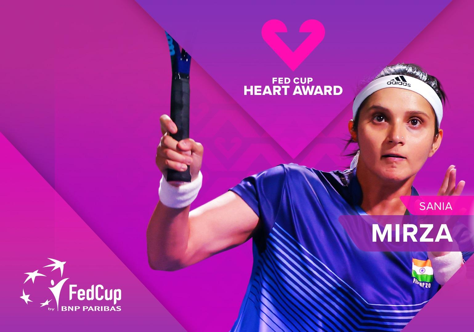 Sania Mirza becomes 1st Indian to win Fed Cup Heart Award_40.1