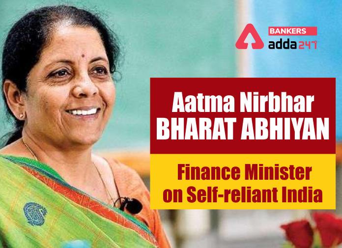 "Economic Relief Package announced for ""Aatmanirbhar Bharat Abhiyan""_40.1"