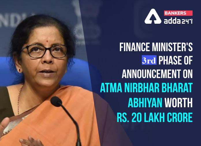 "FM announces 3rd tranche of measures for ""Aatmanirbhar Bharat Abhiyan""_40.1"