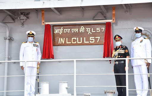 7th LCU Ship 'INLCU L57' commissioned into Indian Navy_40.1