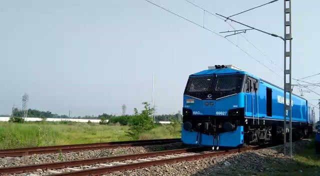 Indian Railways operationalised its 1st 12,000 hp electric Locomotive- WAG12_40.1